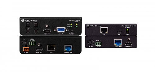 Atlona 4K-HDVS-EXT 4K/UHD HDBaseT TX/RX with Three-Input Switcher, Ethernet, Control, and PoE