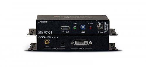 Atlona HD610 DVI with Analog/Digital Audio to HDMI Converter and Embedder (Disco