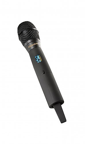 ClearOne Wireless Handheld Transmitter Microphone (M586: 573 MHz to 599 MHz) SACOM H18 Condenser Cardiod