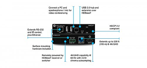 Atlona AT-OME-EX-TX HDBaseT Transmitter for HDMI with USB